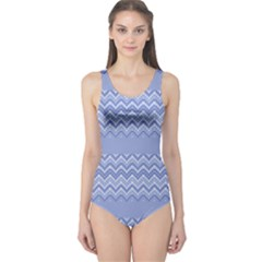 Purple Chevron One Piece Swimsuit by CoolDesigns
