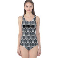 Black Bohemia Chevron One Piece Swimsuit by CoolDesigns
