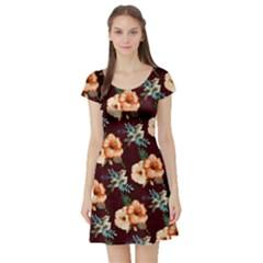 Hawaii3 Vintage Floral Short Sleeve Dress by CoolDesigns