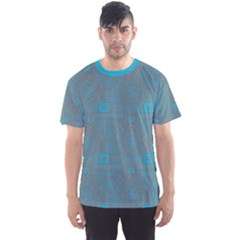 Sky Blue Aboriginal Indigenous African Men s Sport Mesh Tee  by CoolDesigns