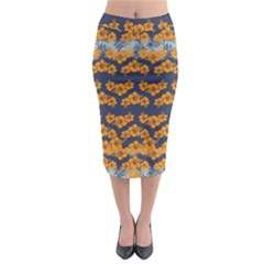 Orange Hawaii 2 Midi Pencil Skirt by CoolDesigns