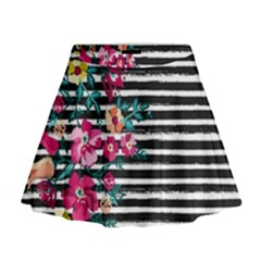 Pink Hawaii Stripe Mini Flare Skirt by CoolDesigns