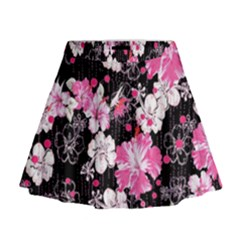 Black Hawaii Mini Flare Skirt by CoolDesigns