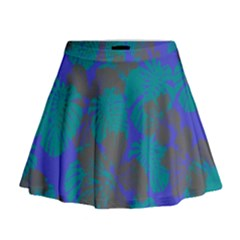 Blue Hawaii Mini Flare Skirt by CoolDesigns