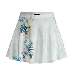 Light Blue Hawaii  2 Mini Flare Skirt