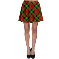 Green Plaid Skater Skirt by CoolDesigns