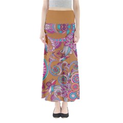 Brown Paisley Maxi Skirt by CoolDesigns