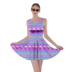 Turquoise Icecream Skater Dress