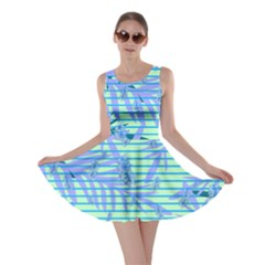 Blue Palm Skater Dress by CoolDesigns