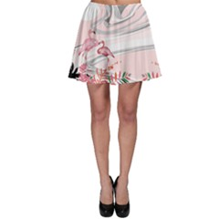 Flamingo Ink 2 Skater Skirt by CoolDesigns