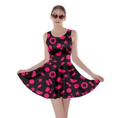 Magenta Summer Beach Skater Dress