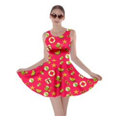 Red Summer Beach Skater Dress by CoolDesigns