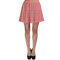 Peach Tartan Skater Skirt by CoolDesigns