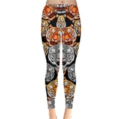 Tiger In Dark Leggings  by CoolDesigns