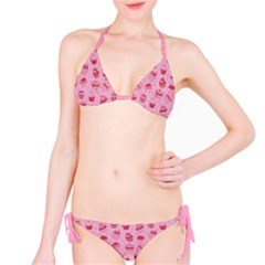 Pink Pattern With Sweet Cupcakes Bikini Set by CoolDesigns