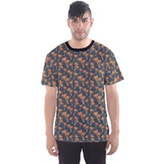 Black Pattern with Coconut Palm Trees Men s Sport Mesh Tee by CoolDesigns