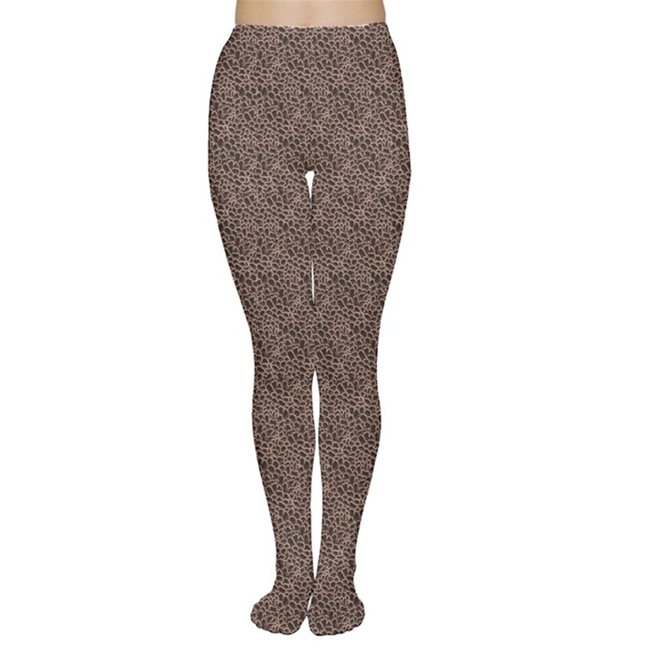 Brown Eather Patter Design Women s Tights