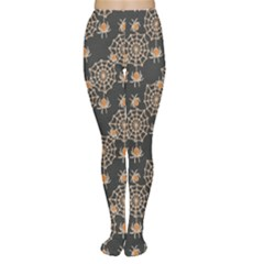 Brown Grunge Halloween Pattern Women s Tights