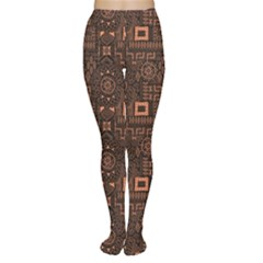 Black Aboriginal Art Indigenous African Patterns Seamless Women s Tights