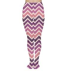 Purple Retro Chevron Pattern Women s Tights by CoolDesigns