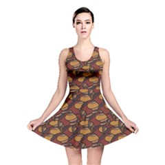Brown African Ethnic Colorful Pattern Reversible Skater Dress