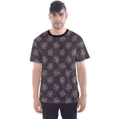 Black Plant Doodle Pattern Men s Sport Mesh Tee by CoolDesigns