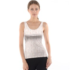 Gray Pattern With Hand Drawn Branches Tank Top