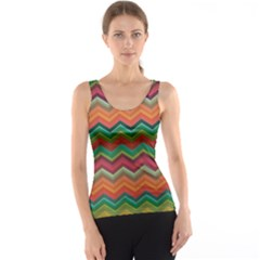 Colorful Chevron Pattern Illustration Tank Top by CoolDesigns
