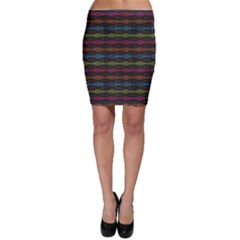 Black Neon Music Pattern Bodycon Skirt by CoolDesigns