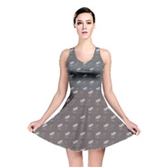 Black Whale Blackwhite Reversible Skater Dress