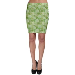 Green Ripe Green Apples Pattern Bodycon Skirt by CoolDesigns