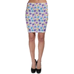 Blue Graphic Artistic Decorative Pattern With Stylized Bodycon Skirt by CoolDesigns