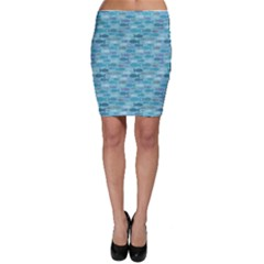 Blue Fish Silhouettes Bodycon Skirt