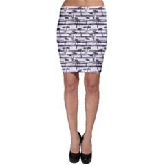 Gray Pattern With Sea And Palm Trees Summer Bodycon Skirt by CoolDesigns
