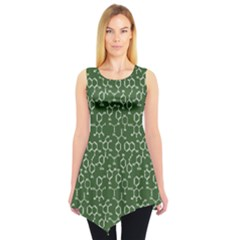 Green Organic Chemistry Pattern With Formulas Sleeveless Tunic Top by CoolDesigns