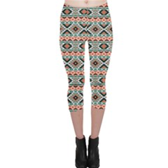 Colorful Colorful Navajo Pattern Capri Leggings by CoolDesigns