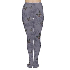 Blue Daisies And Butterflies Handdrawing Women s Tights by CoolDesigns