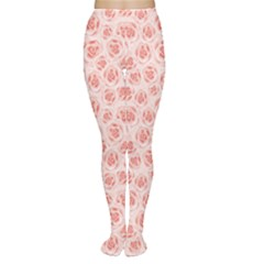 Pink Pattern With Roses Women s Tights by CoolDesigns