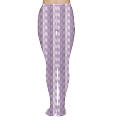 Violet Chevrons Pattern Retro Vintage Women s Tights