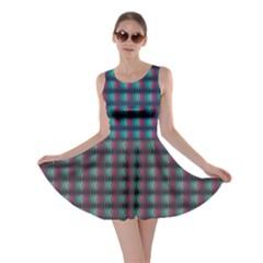 Dark Abstract Geometric Pattern Design Skater Dress
