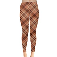 Orange Yellow And Brown Pattern Leggings