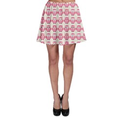 Pink Owls Pattern Skater Skirt by CoolDesigns