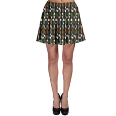 Dark Pattern Forks Spoons End Knifes Skater Skirt by CoolDesigns