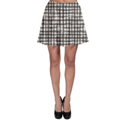 Gray Texture Black Checkered Tablecloth Skater Skirt by CoolDesigns