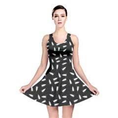 Black Cockroaches On Black Pattern Reversible Skater Dress