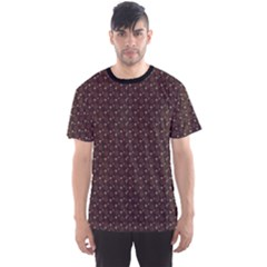 Black Abstract Pattern Men s Sport Mesh Tee
