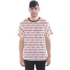 Brown Hot Air Balloon Pattern Men s Sport Mesh Tee by CoolDesigns