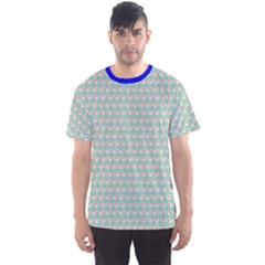 Blue Pattern With Ice Cream Men s Sport Mesh Tee by CoolDesigns
