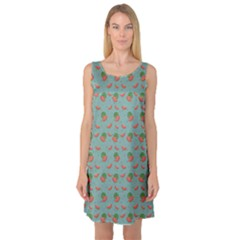Colorful Watermelon Pattern With Seeds Sleeveless Satin Nightdress by CoolDesigns