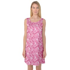 Pink Pattern A Valentine S Day Sleeveless Satin Nightdress by CoolDesigns